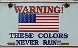 美国的颜色标志装饰画