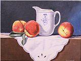 桃子和奶油装饰画
