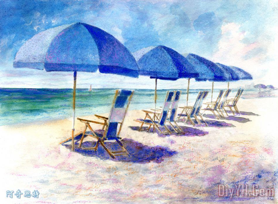 海滩伞 - 海滩伞装饰画
