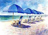 海滩伞装饰画