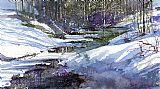 冬季Creekbed装饰画