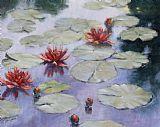 一帆风顺 - 百合在Monets花园装饰画