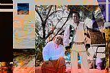 Huichol人同乡摘要装饰画