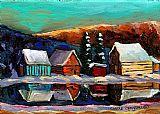 劳伦森景观魁北克冬季场景装饰画