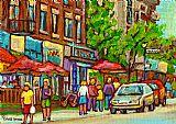城市风光照片 - 蒙克兰的Taverne蒙克兰村油画蒙特利尔城市风貌巴黎圣母院格雷斯咖啡馆的场景