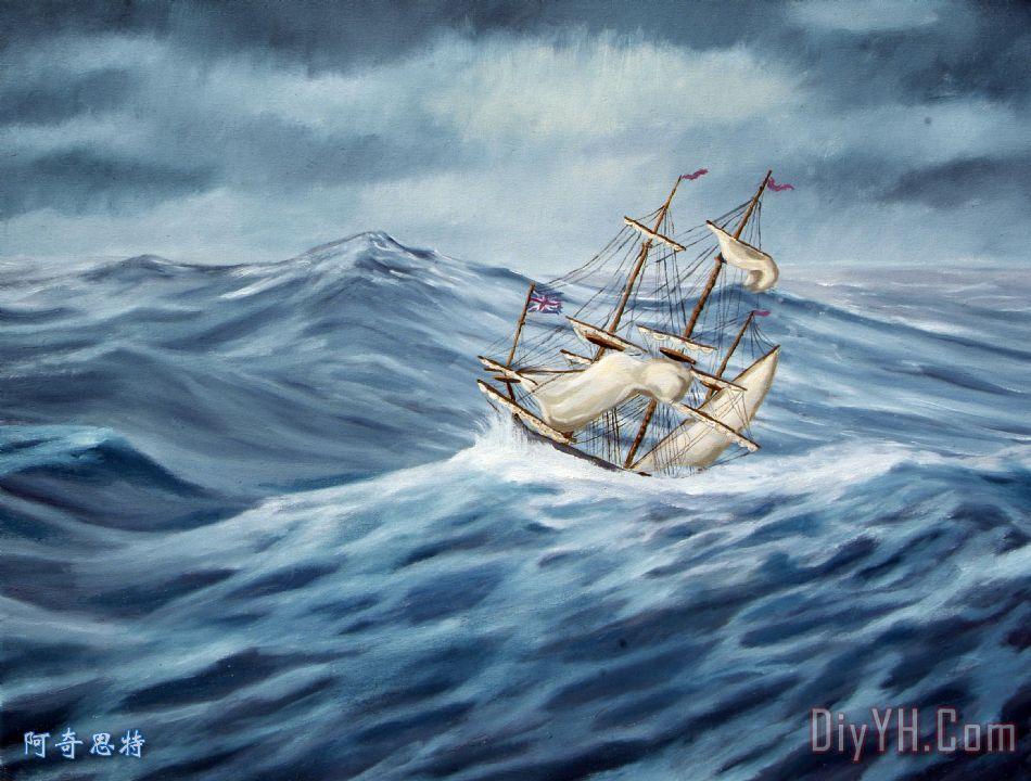 寡妇的眼泪装饰画_风景_海景_海洋_寡妇的眼泪油画