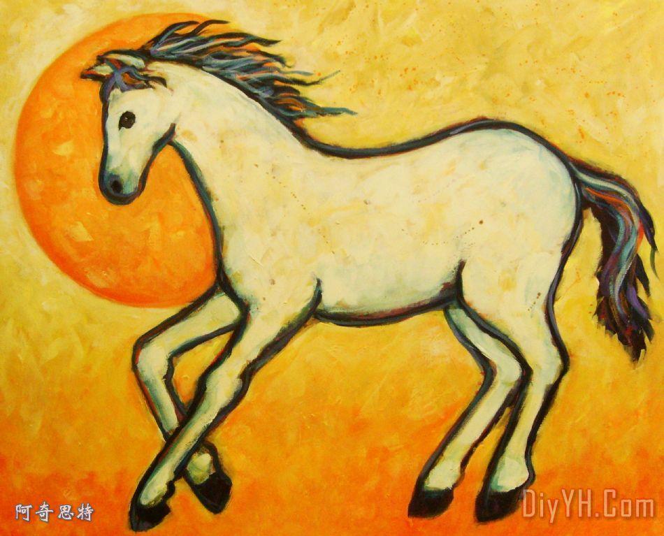 陶艺手绘马