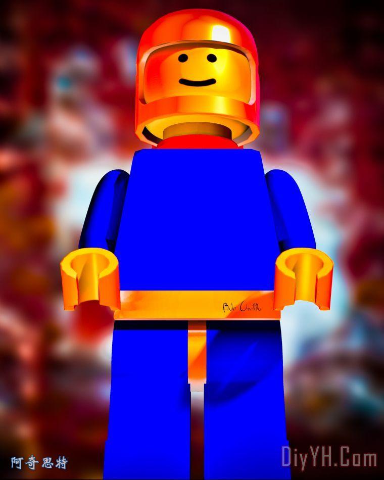 樂高太空人 - 樂高太空人裝飾畫