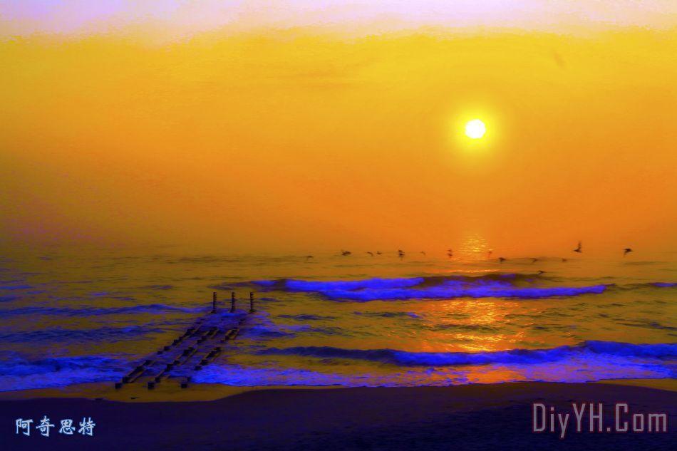 初升的太阳 - 初升的太阳装饰画