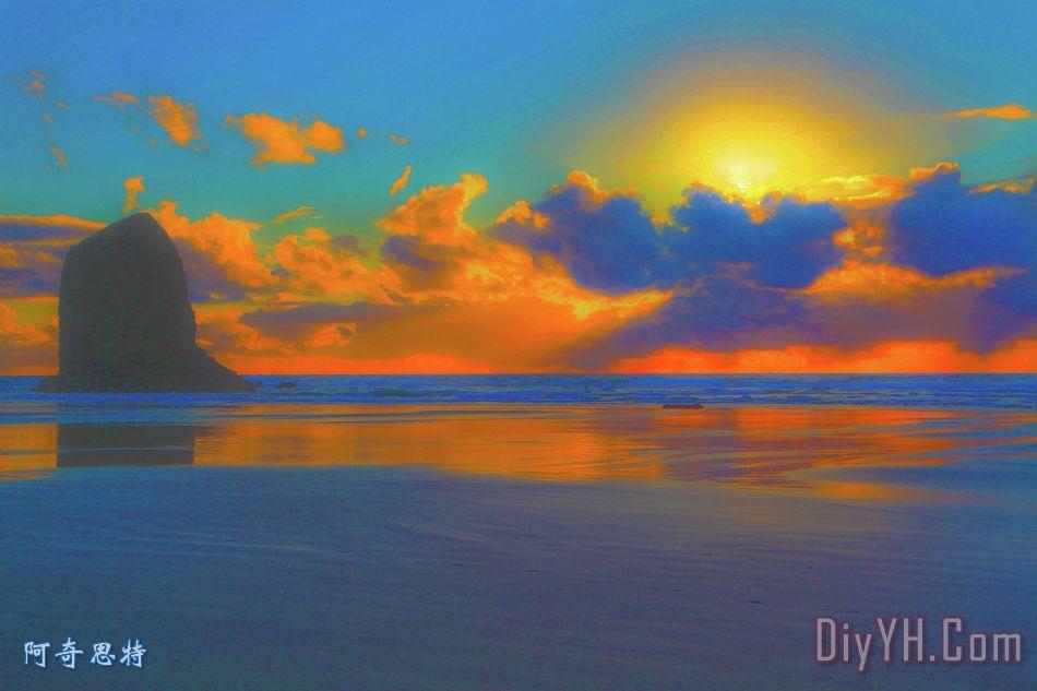 大炮的夕阳 - 大炮的夕阳装饰画