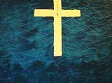 血染十字装饰画