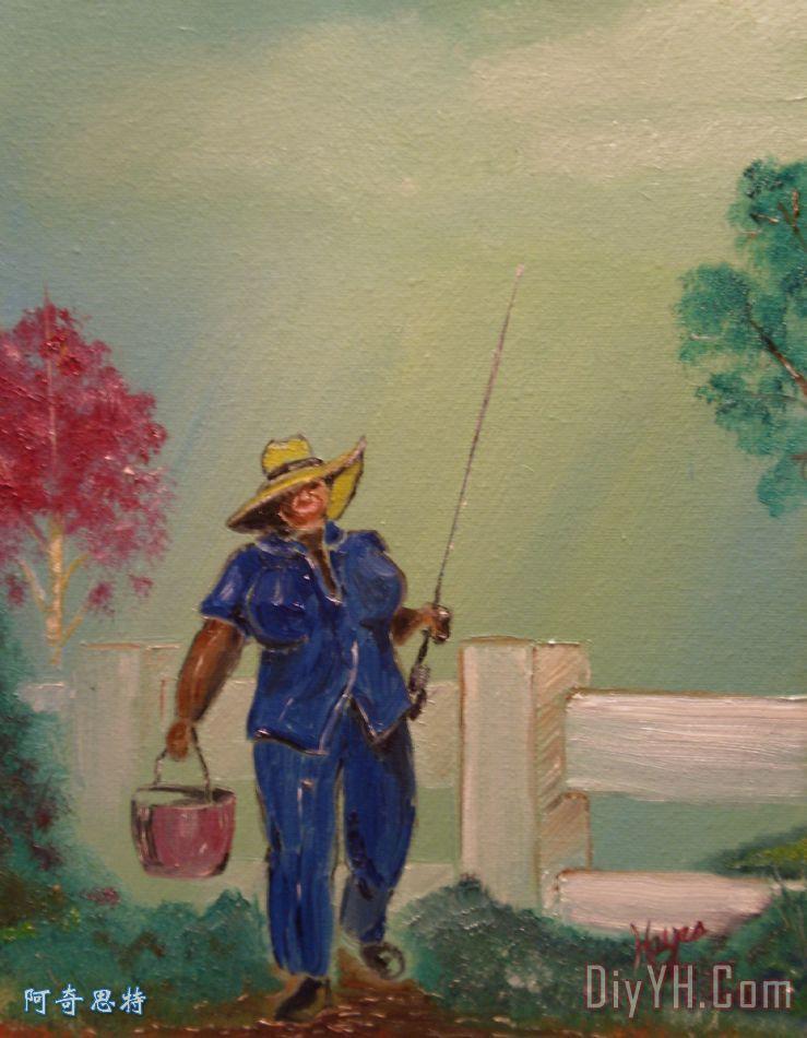 去钓鱼 - 去钓鱼装饰画