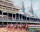肯塔基赛马装饰画
