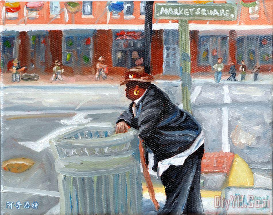 在市场午膳时间盖伊 - 在市场午膳时间盖伊装饰画