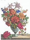 大花盆花卉绘画装饰画