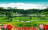 梦幻家园 山水画 风景装饰画