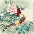 牡丹锦鸡装饰画