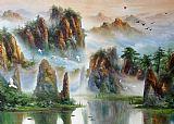 油画风 漂亮的山水油画装饰画