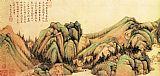 山水名画青绿山水图装饰画