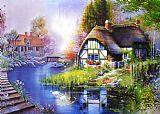 油画风景 乡村装饰画