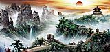 山水风景画 长城装饰画
