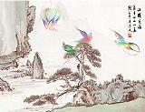 山水鸟语装饰画