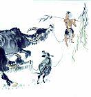 垂柳牧童中国画书房油画
