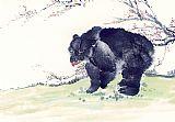 梅花熊书房装饰画