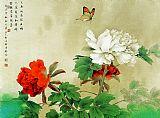 国画工笔花鸟之牡丹装饰画