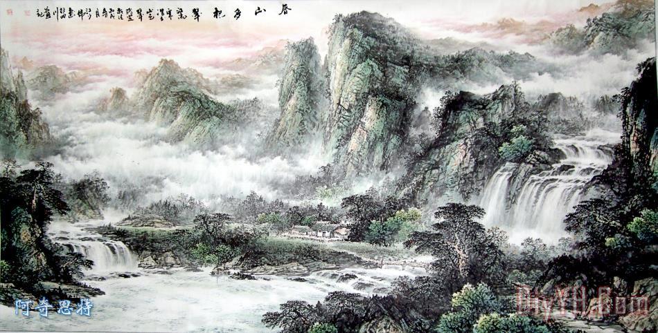国画山水装饰画_风景_松树_摄影_自然风景_自然景观