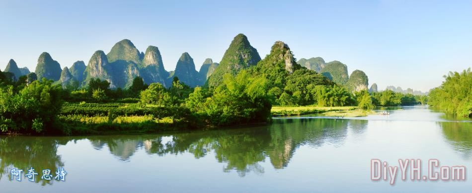 桂林山水装饰画_风景_自然_旅游_景区_桂林山水油画