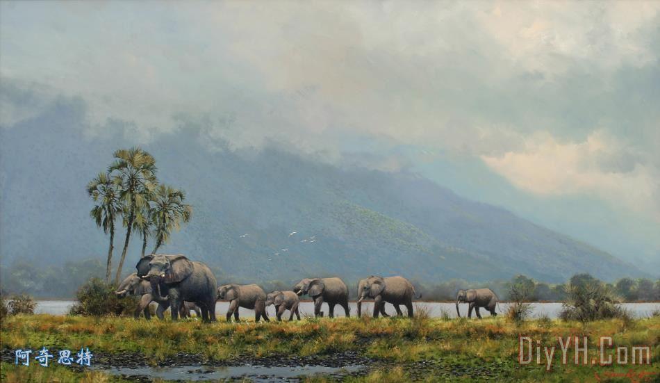 西方画家写实动物油画印象派油画装饰画背景墙