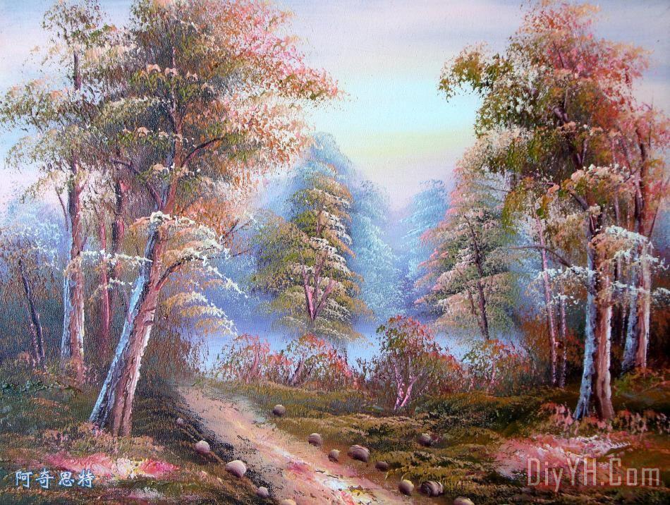 椋庢櫙娌圭敾 (62)风景建筑田园植物水景田园印象画派写实主义油画