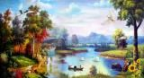 新款 风景油画中式风格油画