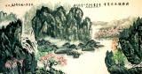青山 - 清涛流水成梵音水墨画