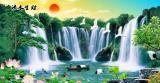 瀑布 - 流水生财 瀑布山水画