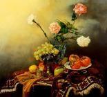 hx-HJW110221 (8)静物花卉油画超写实主义油画静物装饰画