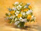 - 静物花卉油画超写实主义油画静物