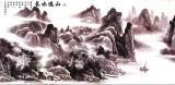 山水背景装饰画