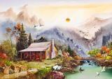风景油画 漂亮的山水油画装饰画