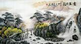 青山 - 云壑流泉国画