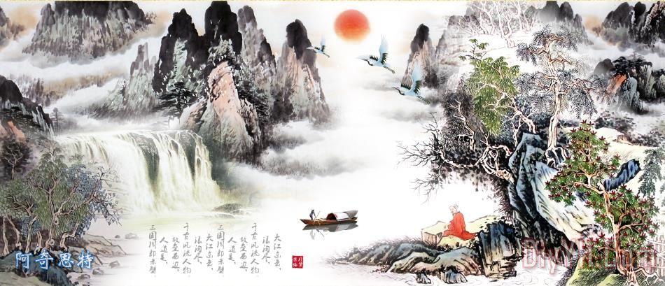 巨幅山水画 - 巨幅山水画装饰画