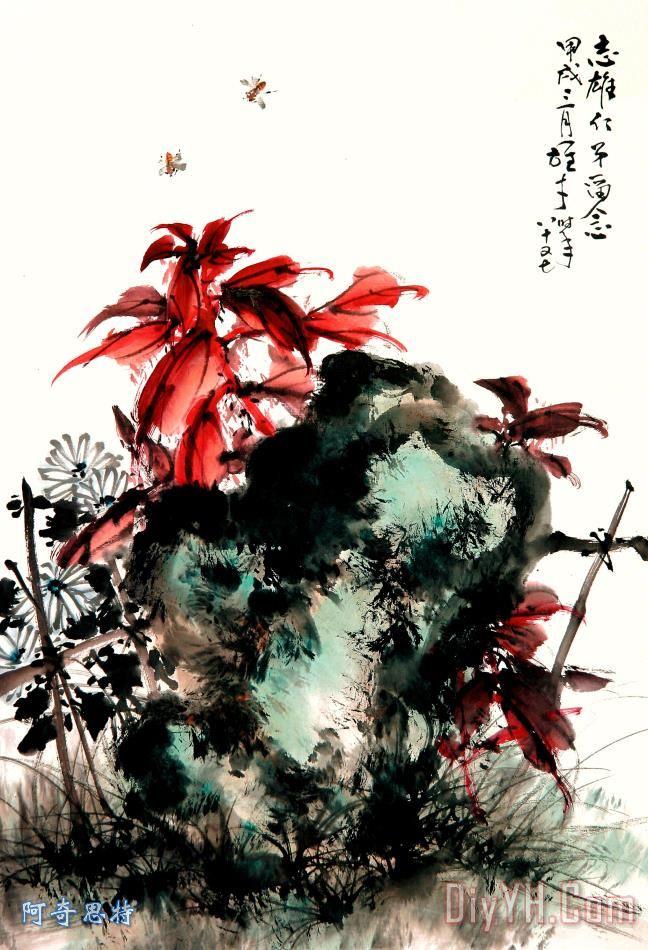 水墨画 花卉 - 水墨画 花卉装饰画