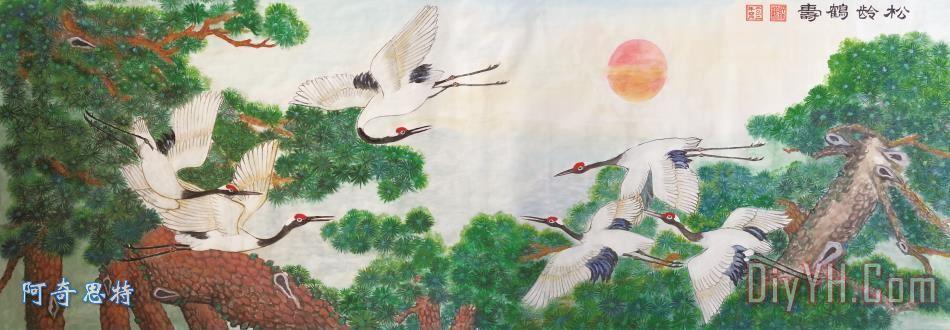 六鹤同春 - 六鹤同春装饰画