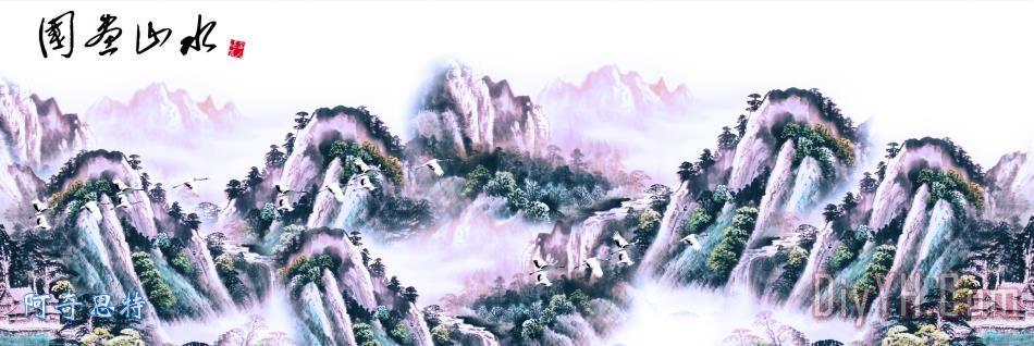 大厅壁画 - 大厅壁画装饰画