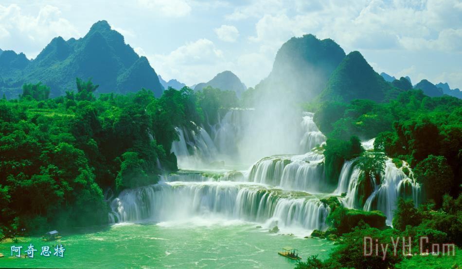 山水瀑布 - 山水瀑布装饰画
