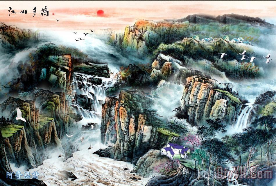 山河锦绣 - 山河锦绣装饰画