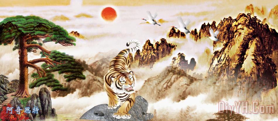 古典装饰山水画 - 古典装饰山水画装饰画