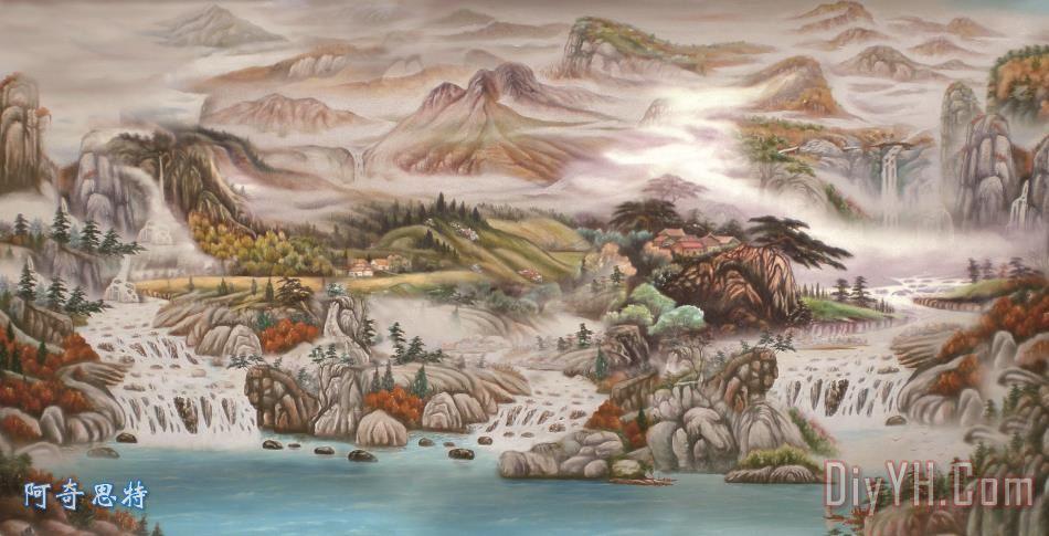 油画山水 - 油画山水装饰画