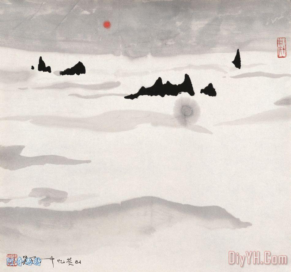 忆黄山 - 吴冠中忆黄山装饰画